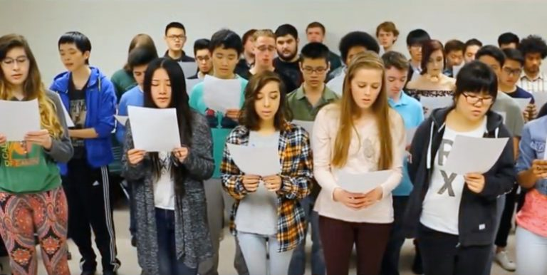 Instructor's Song Performed by Japanese Students