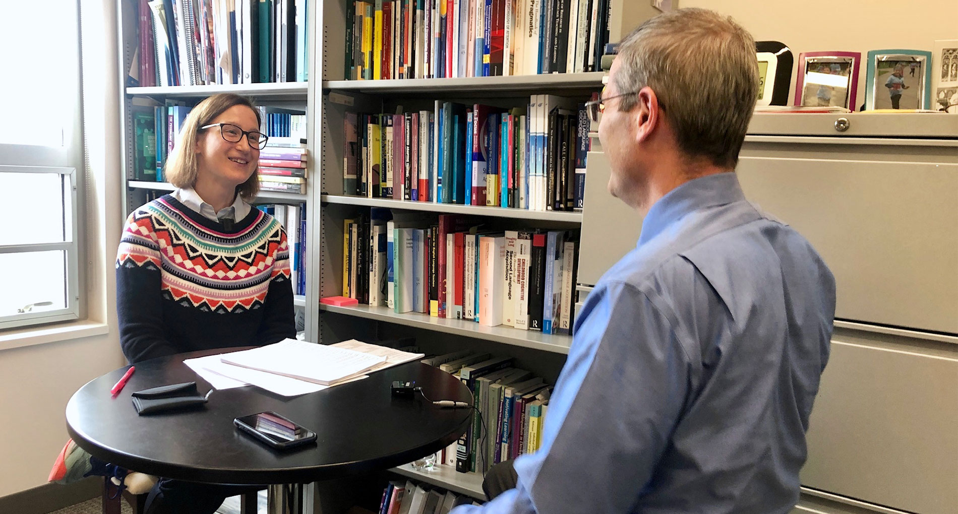 LAE Podcast Hosts Associate Professor of Linguistics Paula Winke