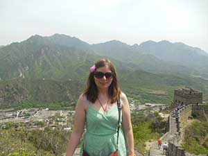 Bethany on the great wall of china