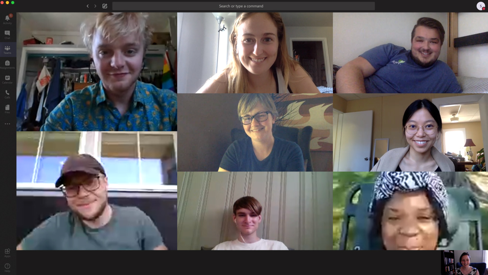 group of people on a video call