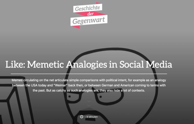 Schuster-Craig publishes article on historical analogies in social media