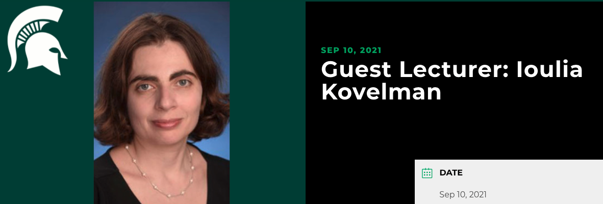 Dr. Ioulia Kovelman, Associate Prof of Psychology, University of Michigan, to give talk on bilingualism and the young mind
