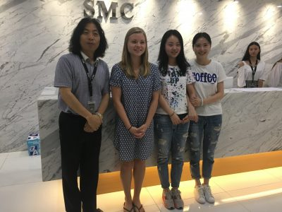 Emily Grachow, a former Chinese major, interned at Shanghai Metal Corporation in Summer 2017